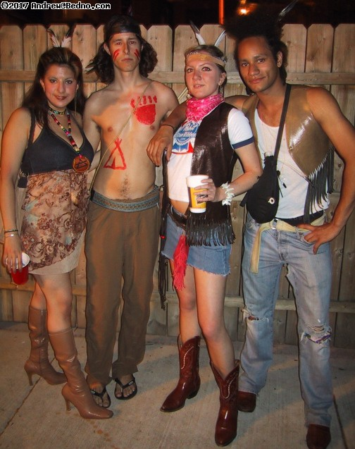 adult cowboys and indians party