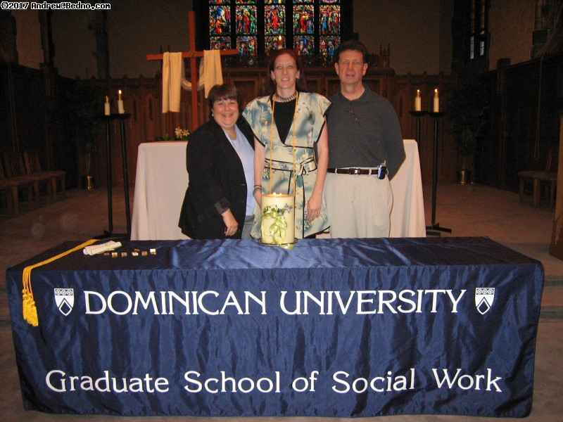 Susan's MSW graduation from Dominican University.