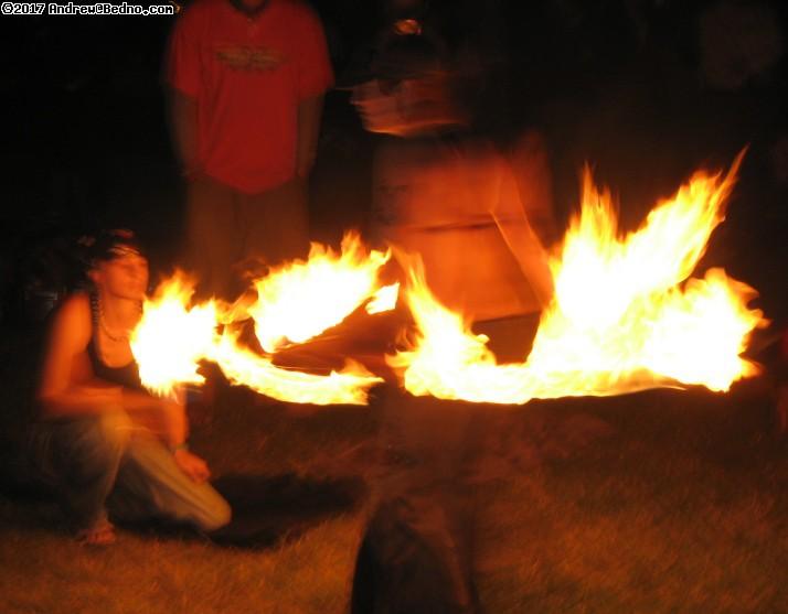 Full Moon Fire Jam at Foster beach.