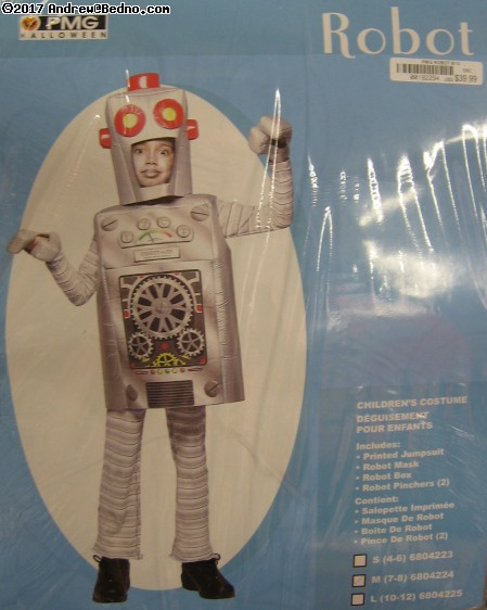 Robot costume. (click for next photo)