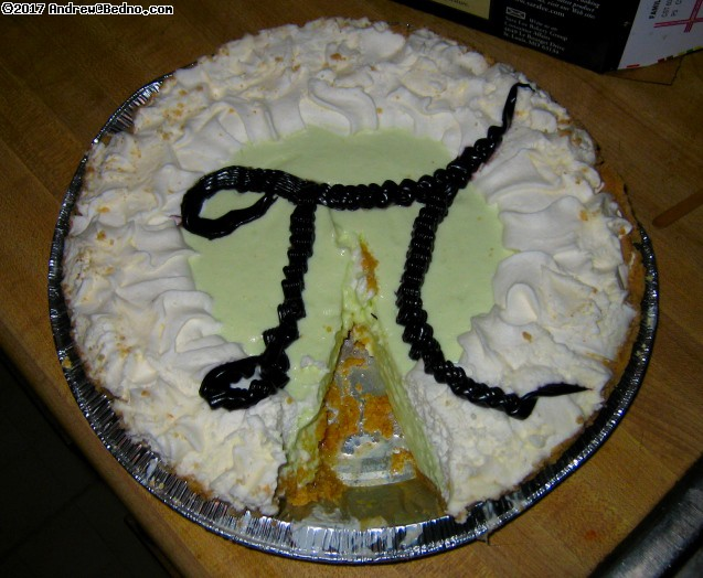 Pi pie in honor of Pi day (March 14th = 3.14).