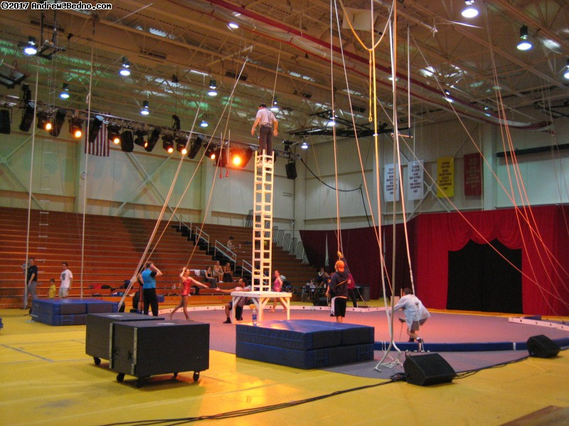 Triton Troupers Circus rehearsal.