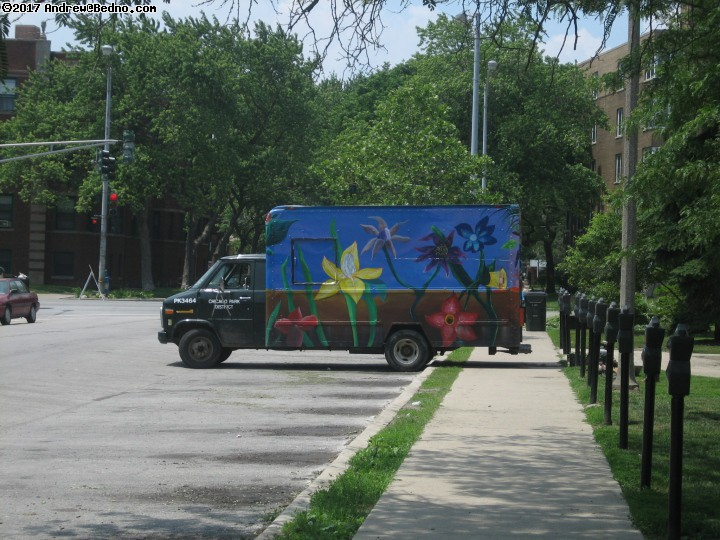 Artists of the Wall Festival in Rogers Park. Preparation.