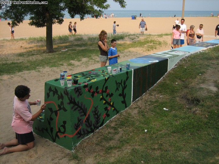Artists of the Wall Festival in Rogers Park. (click for next photo)