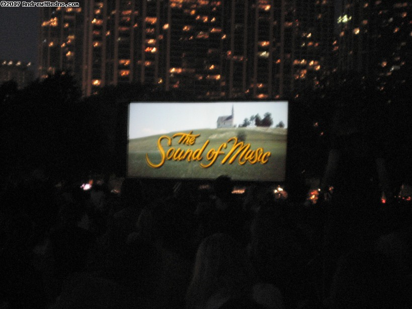 Chicago Outdoor Film Festival in Grant Park.