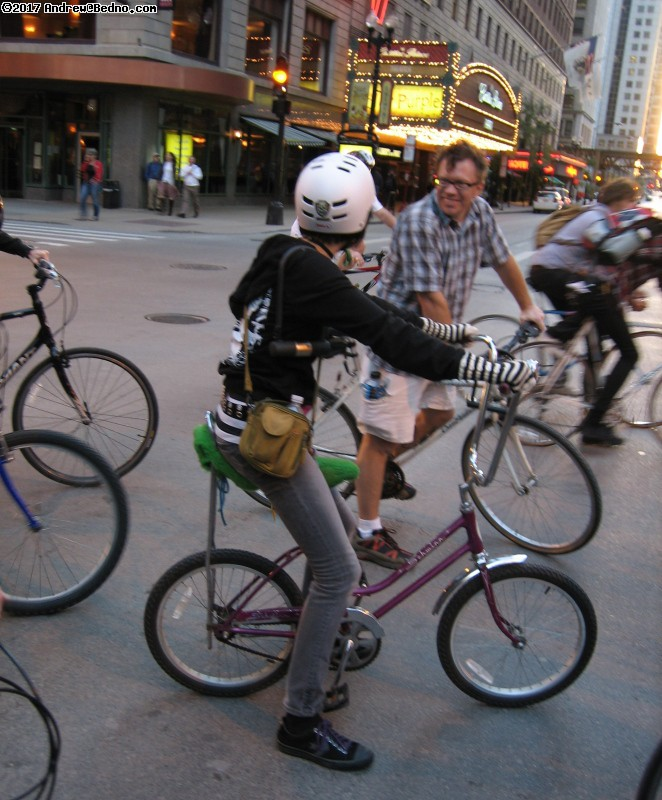 Chicago Critical Mass bike event 10th anniversary (CCMX).