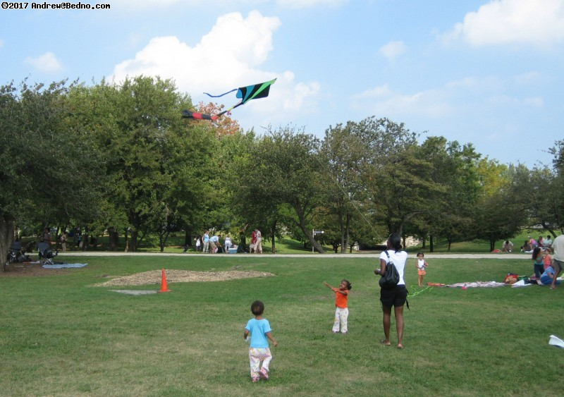 Kids-N-Kites festival on Cricket Hill in Montrose Park.