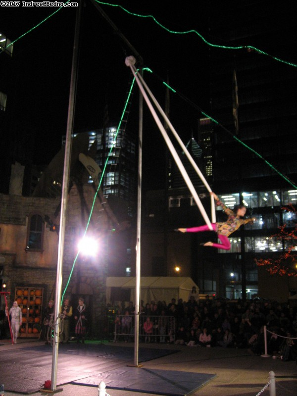 Midnight Circus performance at Chicagoween in Daley Plaza.
