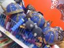 Cheap toy Medieval helmets. (click to zoom)