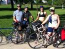 Jera, Annie, Swap and pal get ready for 150 mile ride. (click to zoom)
