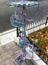 Bike based art in Rogers Park. (click to zoom)