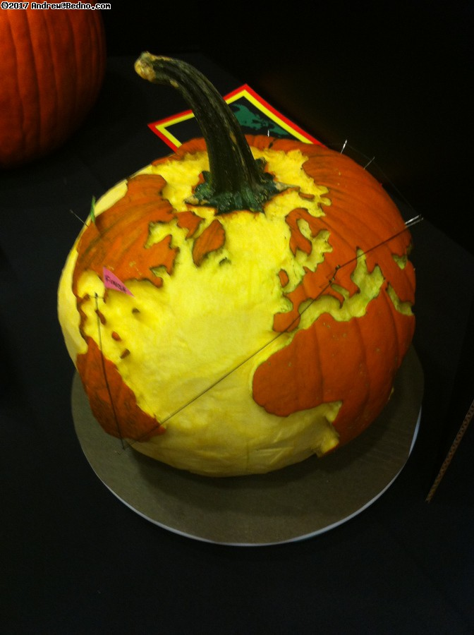 Earth pumpkin carving.