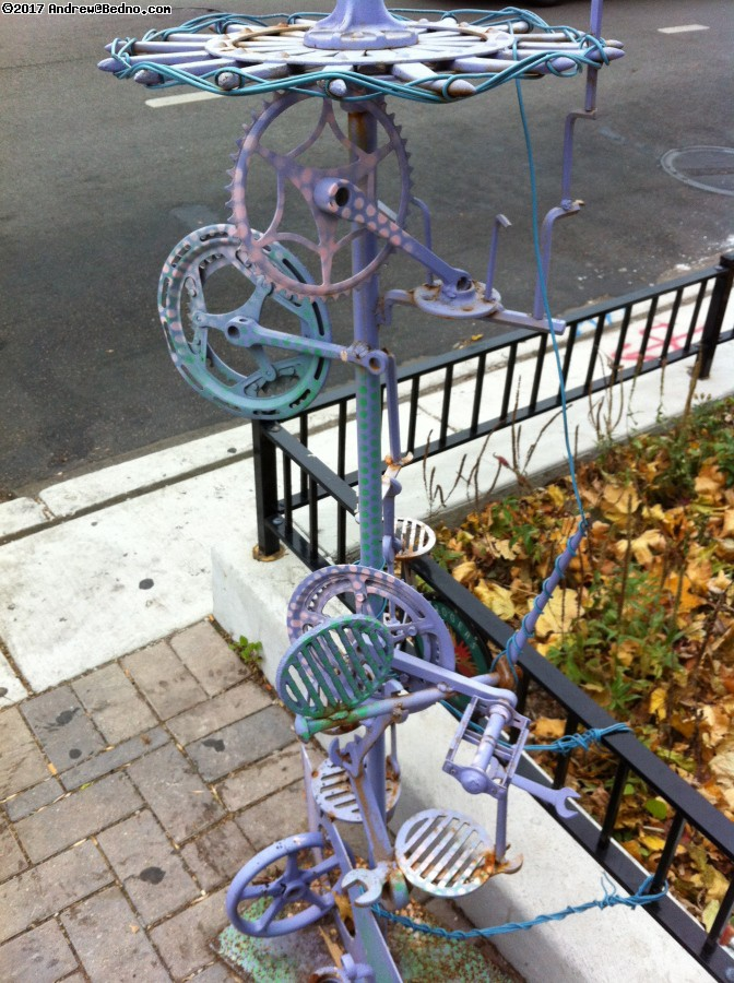 Bike based art in Rogers Park.