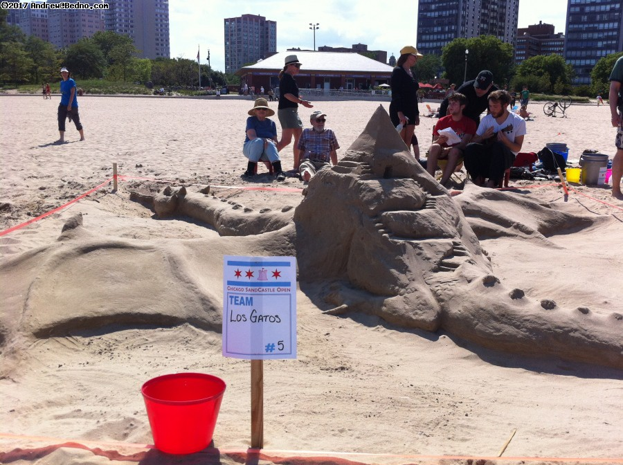 Sand Castle Competition on Osterman Beach. (click for next photo)