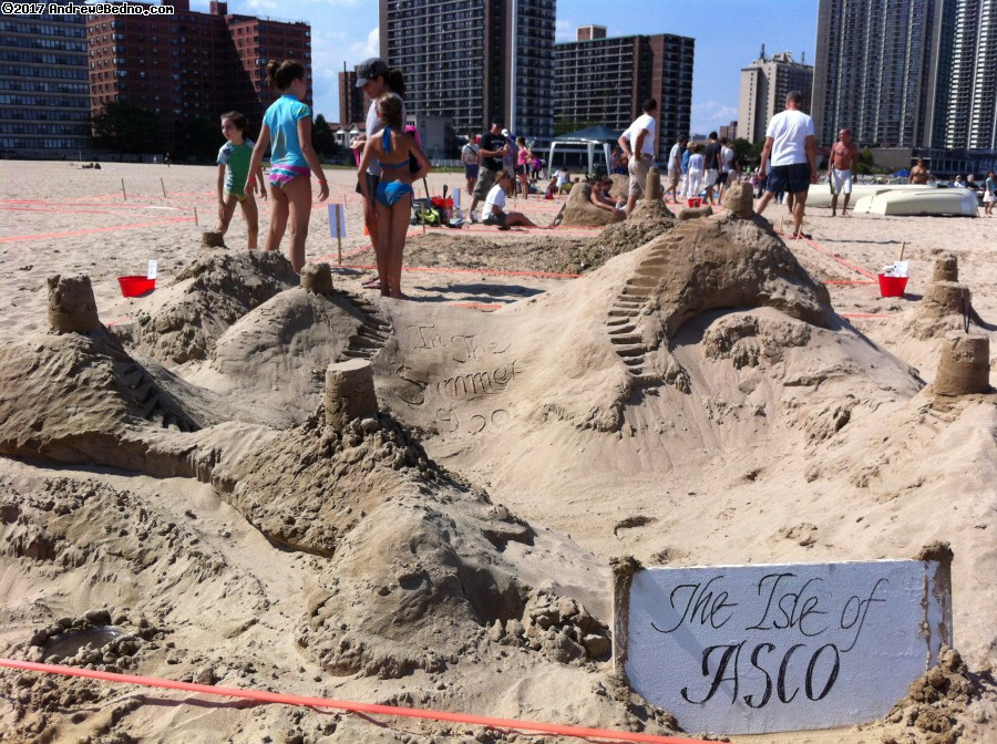 Sand Castle Competition on Osterman Beach.