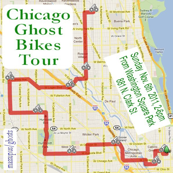 Chicago Ghost Bikes Tour