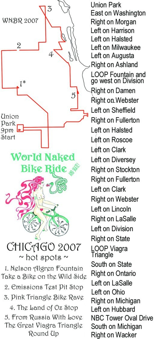 World Naked Bike Ride - Chicago 4, 2007.06.16 (click for next photo)