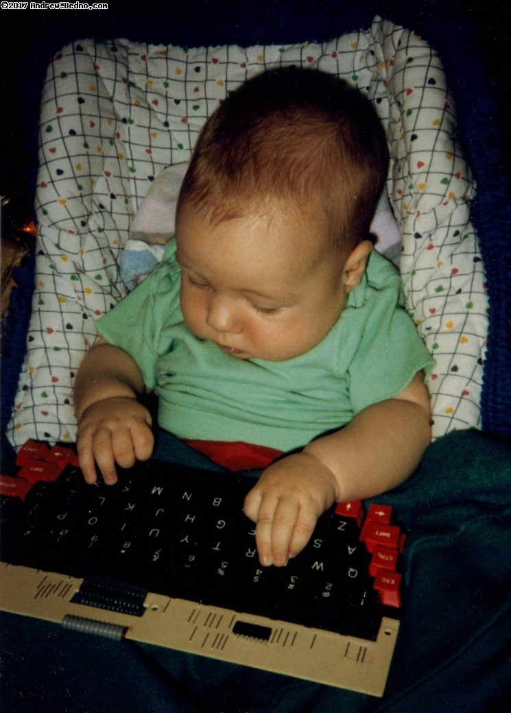 Infant Daniel at Keyboard