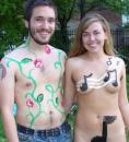 Recommended World Naked Bike Ride Chicago body painting. (click to zoom)