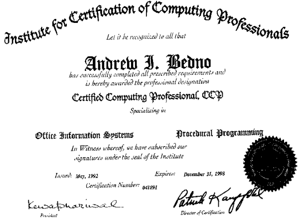 Institute for the Certification of Computer Professionals